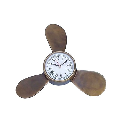 Handcrafted Model Ships Antique Brass Decorative Ships Propeller Clock - 12 in. (RTL346812)