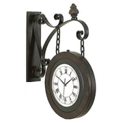 EcWorld Enterprises  Large Handcrafted Metal Hanging Double Face Clock (RTL355412)