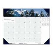 """House of Doolittle HOD176 Desk Pad-""""Mountains 12 Months- Jan-Dec- 22in.x17in. (SPRCH16334)"""