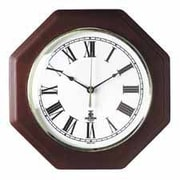 Chicago Lighthouse  Wall Clock- 12in. Octagon Shape- White Face-Mahogany Frame (SPRCH22296)