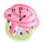 Trend Lab  Shaped Wall Clock- Cupcake- 11 Inch X 11 Inch X .37 Inch Thick Mdf (TREND1670)
