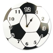 Trend Lab  Wall Clock- Circular Shape With Soccer Ball Design (TREND1672)