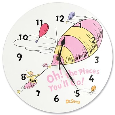 Trend Lab Wall Clock - Dr. Seuss Pink Oh The Places You''Ll Go (TREND2421)