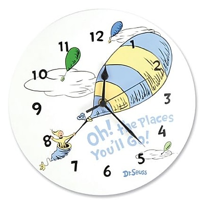 Trend Lab Wall Clock - Dr. Seuss Blue Oh The Places You''Ll Go (TREND2422)