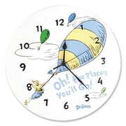 Trend Lab  Wall Clock - Dr. Seuss Blue Oh The Places You'Ll Go (TREND2422)