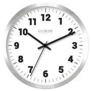 La Crosse Technology Ltd 404-2626 10 in. Silver Metal Wall Clock (TRVAL83943)