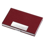 Visol  Samantha Red Leather Business Card Case for Ladies (VISOL1589)