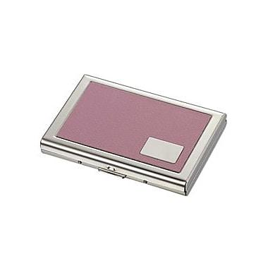 Visol Delilah Pink Leather Credit Card Case (VISOL1813)