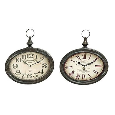 Benzara Stylish and Durable Assorted Chinese Metal Wall Clock - Set of 2 (WLMGC5382)