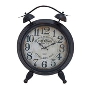 Woodland Import  Table Clock with Arabic Numbers & Alarm System (WLMGC7152)