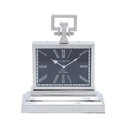 Woodland Import  Nickel Plated Table Clock with Three Tier Base (WLMGC7167)