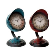 Woodland Import  Table Clock Assorted in Red and Blue Colors - Set of 2 (WLMGC7193)