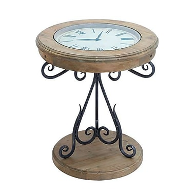 Woodland Import Table Clock with Innovative Pattern and Elegant Curves (WLMGC7735)