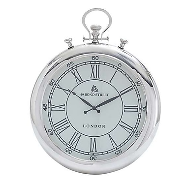 Woodland Import Wall Clock Simple Classic Design in Round Shape (WLMGC7867)
