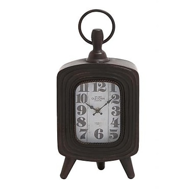 Woodland Antique Metal Table Clock With Three Legs (WLMGC8068)
