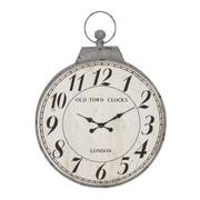 Woodland  Antique Metal Round Shaped Wall Clock (WLMGC9316)