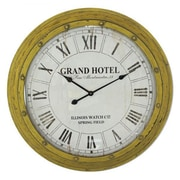 Yosemite Home Decor  Circular MDF Wall Clock With Glass - Yellow (YSMT95256)