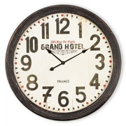 Yosemite Home Decor  Circular MDF Wall Clock With Glass - Black (YSMT95257)