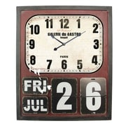 Yosemite Home Decor  Rectangular MDF Wall Clock With Glass - Cherry (YSMT95258)
