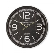 Yosemite Home Decor  Circular MDF Wall Clock - Black, 2.5 x 23.75 x 23.75 in. (YSMT95261)