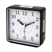 Impecca  Travel Alarm Clock Sweep Movement Black (ZRSS2655)