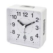 Impecca  Travel Alarm Clock Sweep Movement White (ZRSS2656)