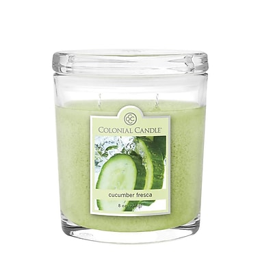 Colonial Candle 8 oz. Oval Jar, Cucumber Fresca, 2/Pack (CC0082177)