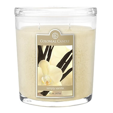 Colonial Candle 22 oz. Oval Jar, Simply Vanilla, 1/Pack (CC0221339)