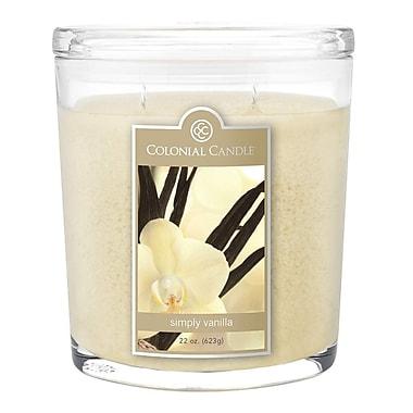 Colonial Candle – Pot ovale de 22 oz CC0221339, vanille, paq./1