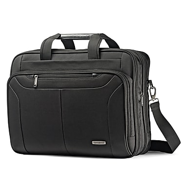 Samsonite – Mallette extensible pour ordinateur de 17 po PFT Ballistic Business 2 63118-1041 avec radio-identification, noir