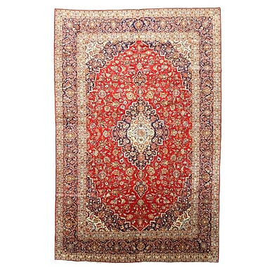 Eastern Rugs Hand Knotted Red Area Rug