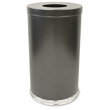 Witt Receptacle 35 Gallon Trash Can; Silver