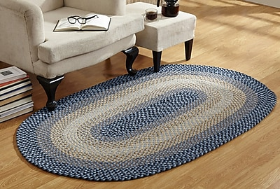 Better Trends Woodbridge Braided Blue Area Rug; 7'4'' x 9'4''