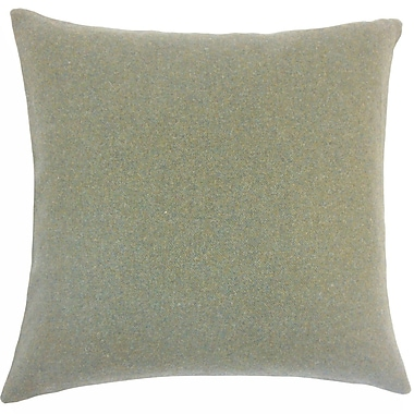 The Pillow Collection Uyin Solid Wool Throw Pillow; 20'' H x 20'' W x 5'' D