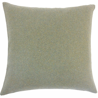 The Pillow Collection Uyin Solid Wool Throw Pillow; 18'' H x 18'' W x 5'' D