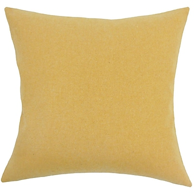 The Pillow Collection Acadia Solid Wool Throw Pillow; 18'' H x 18'' W x 5'' D