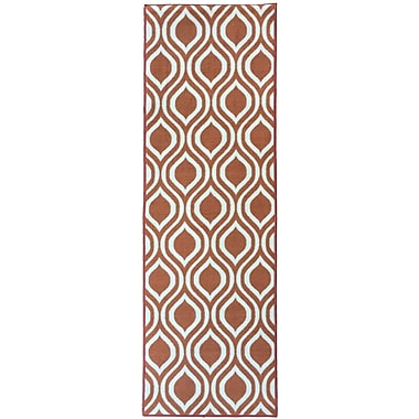 Berrnour Home Rose Orange Area Rug; Runner 1'8'' x 4'11''