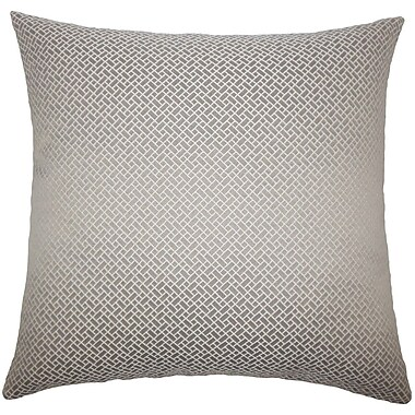 The Pillow Collection Haytham Solid Throw Pillow; 18'' x 18''