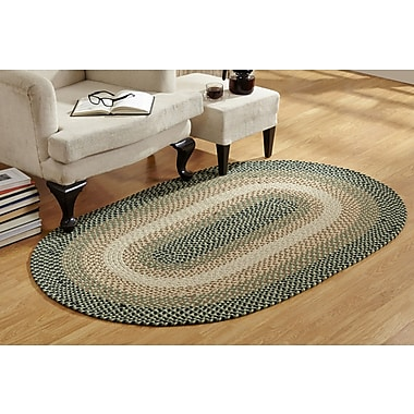 Better Trends Woodbridge Braided Green Area Rug; 2'3'' x 4''