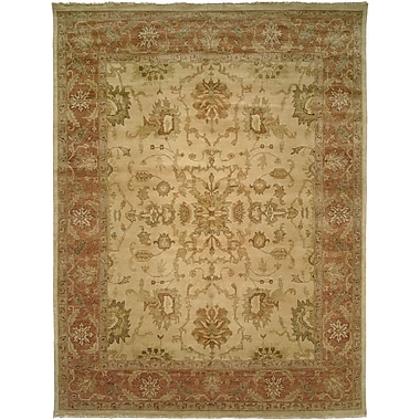 Wildon Home San Lucas Hand-Knotted Ivory Area Rug; Rectangle 12' x 15'