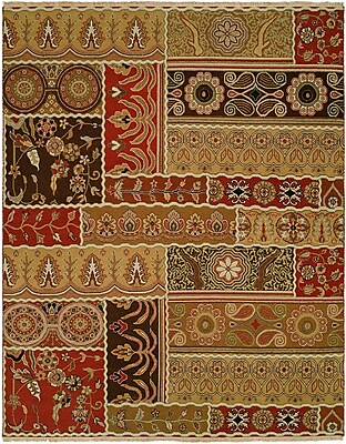 Wildon Home Sudan Hand-Woven Brown/Red Area Rug; Rectangle 4' x 6'