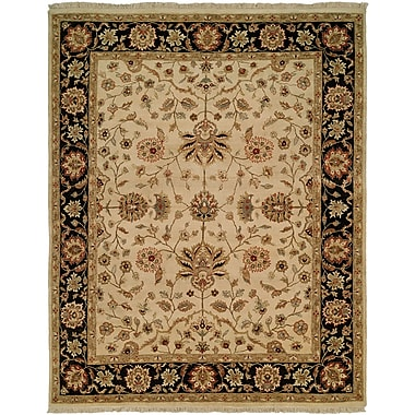 Wildon Home Hand-Knotted Beige/Brown Area Rug; Round 10'