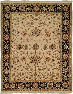 Wildon Home Hand-Knotted Beige/Brown Area Rug; Rectangle 5' x 7'