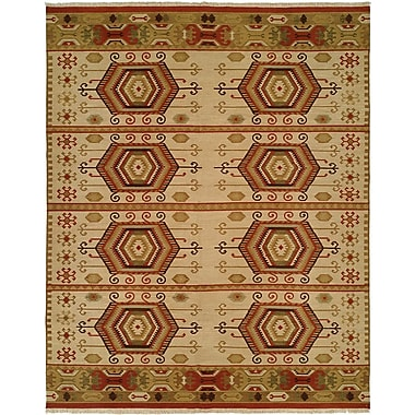 Wildon Home Qinhuangdao Hand-Woven Beige/Red Area Rug; Runner 2'6'' x 8'