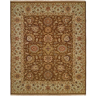 Wildon Home Talcahuano Hand-Woven Brown Area Rug; Runner 2'6'' x 12'
