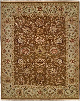Wildon Home Talcahuano Hand-Woven Brown Area Rug; Rectangle 2' x 3'