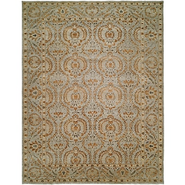 Wildon Home Hungnam Hand-Knotted Blue/Brown Area Rug; 10' x 14'
