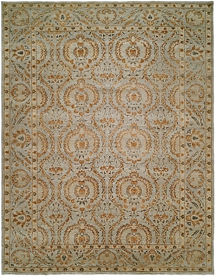 Wildon Home Hungnam Hand-Knotted Blue/Brown Area Rug; 3' x 5'