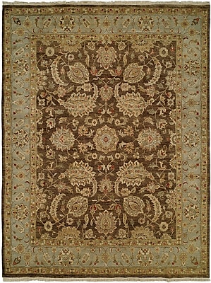Wildon Home Shanghai Hand-Knotted Brown/Blue Area Rug; Runner 2'6'' x 10'