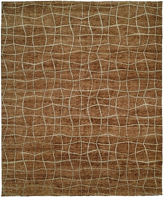 Wildon Home San Antonio Hand-Knotted Brown Area Rug; 4' x 6'